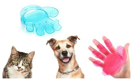 Dog Cat Puppy Pet Bath Grooming Brush Massage Glove 8faf6e4a-dddd-4637-9c40-99d0d45ad86d