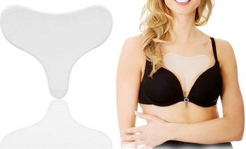 Anti-Wrinkle Silicone Decollete Elongated Triangle Chest Pad Reusable Pack 1-10