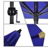 Astella 9' Round Steel Market Outdoor Patio Umbrella w/ Push Button Tilt