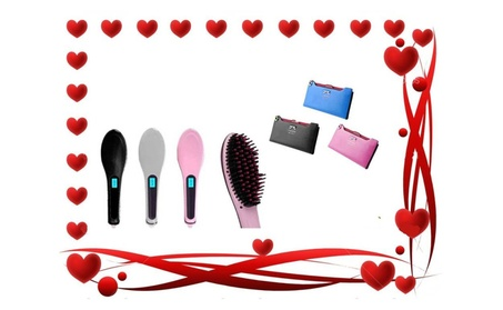 Hair Straightener Brush Leather Wallet Perfect For Valentine Day 3353719c-1e14-4164-8b2e-33eb74ef0418
