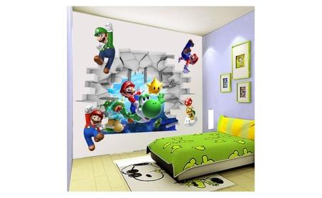 Super Mario Cracked Wall Mural Vinyl Wall Decals Sticker 0d750543-c585-492d-a40d-c61b9f0b588e