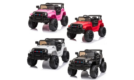 12V Kids Ride On Car w/ Remote Control, 3 Speeds, LED Headlights,MP3 Player