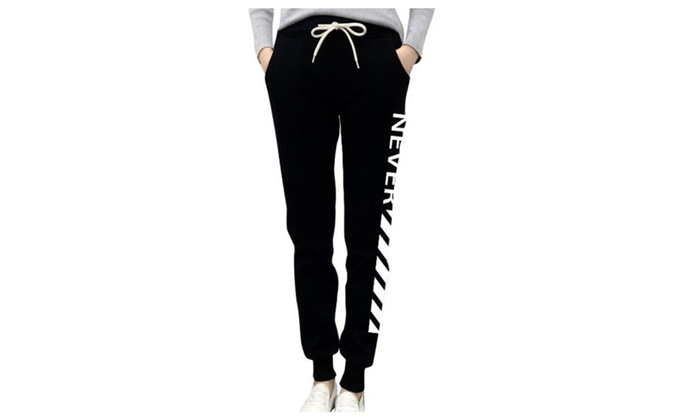 Women's  Drawstring Closure Fashion Straight Pants