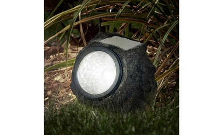 LED Solar Rock Landscaping Lights - Set of 4