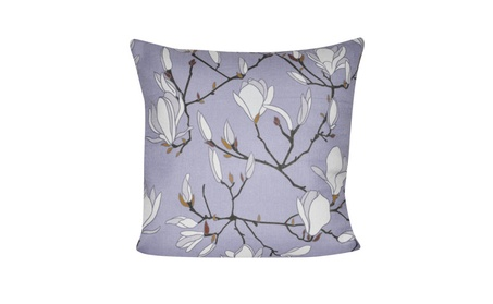 "Loom and Mill Home Decor 21""X21"" Lavender Magnolias Decorative Pillow 0a49199e-08c6-4b9c-b5dd-38f0ee896de2"