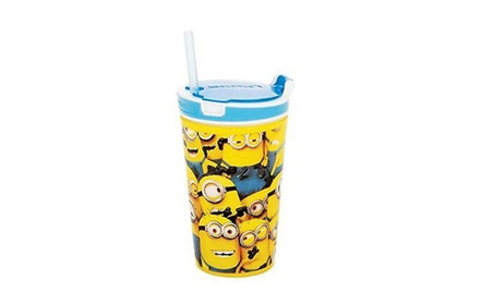 Drink Cup with Straw & Keep Snacks Fresh b965da90-02da-4c46-b96c-9fc78fe4fcd5