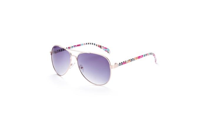 Design Inprint Gold Tone Gradient Sunglasses
