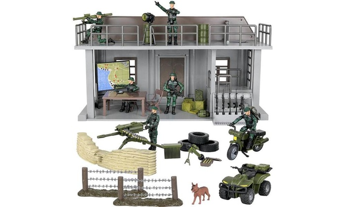 Kids Military Toy Attack Combat Helicopter 20 Piece Army Play Set With Accessory