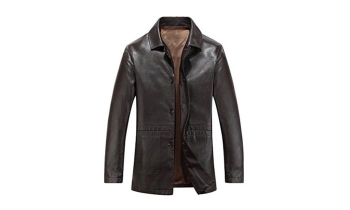 9c4fcd4f522 Men's Vintage Casual Warm Long Sleeve Midriff-Baring Top Jacket ...