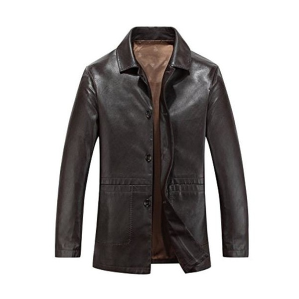 27eb07566b8 Men's Vintage Casual Warm Long Sleeve Midriff-Baring Top Jacket | Groupon