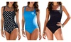Women's Vintage Bandeau Bathing Suits One Piece Swimwear Monokini Swimsuits