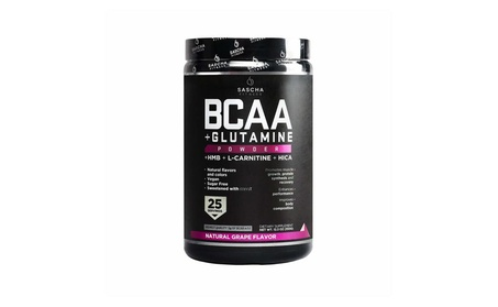 Sascha Fitness BCAA for Pre, Intra and Post-Workout, Grape Flavor, 350g