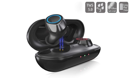 Wireless Earbuds, True Wireless Bluetooth 5.0 headphones with Charging Case