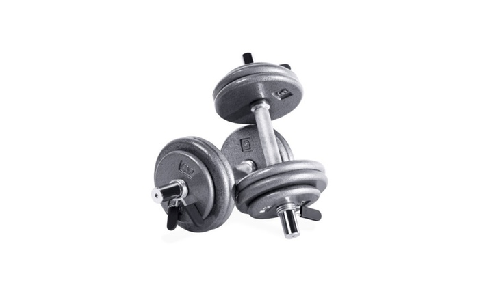 Amazing CAP Barbell 50 Lb Adjustable Dumbbell Set  Pair ...