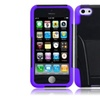 Insten For Iphone 5C/5S/SE Hybrid Holster Case With Stand Black/purple