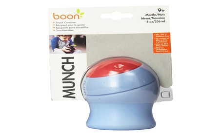 Boon Munch Snack Container Light Blue/Red 8 Ounce 6d864f77-a074-4138-99d3-68833f16eb6f