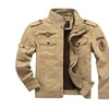 Casual Green Khaki Army Outdoors Jacket for Men
