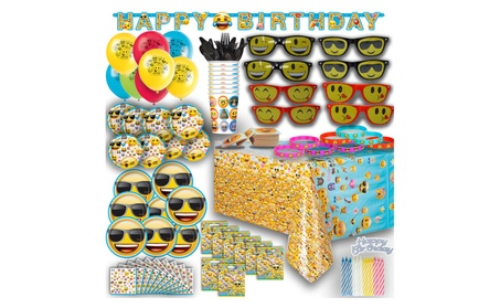 Ultimate Emoji Birthday Party Complete Set NEW 017d2be9-ab99-4ca8-9856-3c57cc6dd21f