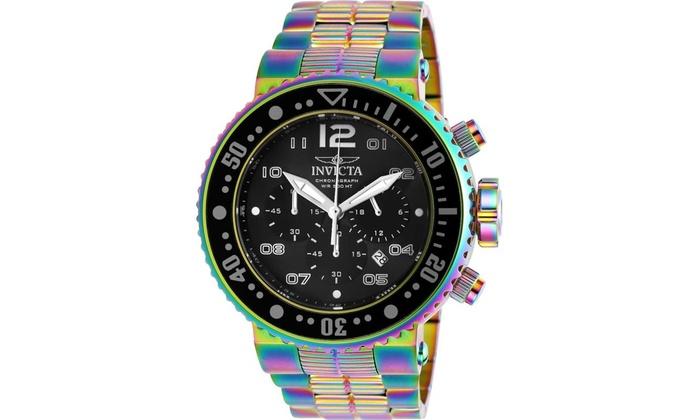 Invicta 25078 Watch Black Diver Dial Mens Quartz Pro Chronograph e2IEDHYbW9
