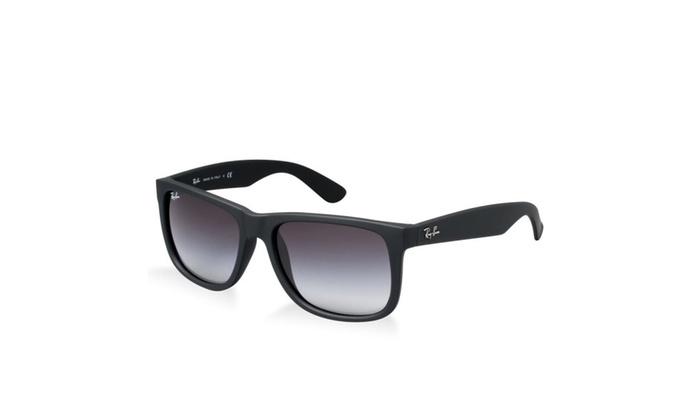 Ray Ban RB4165 Justin Sunglasses -601/8G Rubber Black-55mm