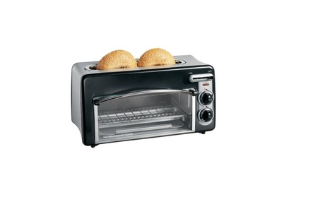 Hamilton Beach Toastation 2-Slice Toaster and Countertop Oven, Black photo