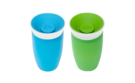 Munchkin Miracle 360 Sippy Cup, Green/Blue, 10 Ounce, 2 Count 77b94c40-40e9-47cd-aff3-726545154b1b