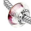 Sterling Silver 'Gemini' Murano Style Glass Bead