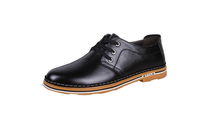 Men's Round Toe Lace up Loafers