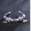 Purple Lucky Elephant Swarovski Elements Cuff Bangle