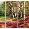 Green Autumn Forest - Landscape Metal Wall Art