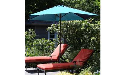 Image Placeholder Image For Pure Garden 9 Foot Aluminum Patio Umbrella With  Auto Crank