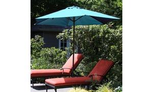 Pure Garden 9' Aluminum Patio Umbrella with Auto Crank