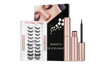 10 Pairs Magnetic Eyelashes Kit with Eyeliner Reusable Magnetic Lashes