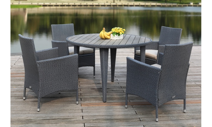 ... Safavieh Cooley Outdoor Dining Set (5 Piece)