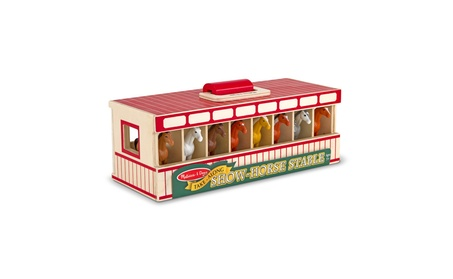 Melissa & Doug Take-Along Show-Horse Stable Play Set With Wooden 415a6ff4-d8f0-4bd9-b166-d80bbb0f7c1f