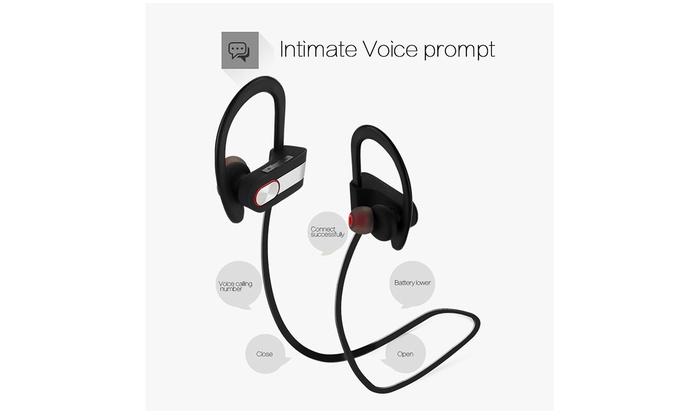 Waterproof Bluetooth Earbuds Beats Sports Wireless Headphones Microphone Groupon