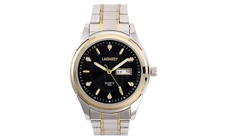 ChezAbbey Men's Classic Stainless Steel Mechanical Analog Quartz Watch f0fad755-02dc-4345-8c3d-805acd827662