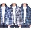 Mens Flannel Hoodie Jacket Zip Up Fleece Plaid Sherpa Big & Tall Shirt