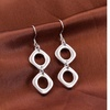 Silver Double Abstract Earrings