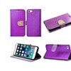 "Insten Leather Glitter Case For Iphone 6 Plus 5.5"" Purple/gold"