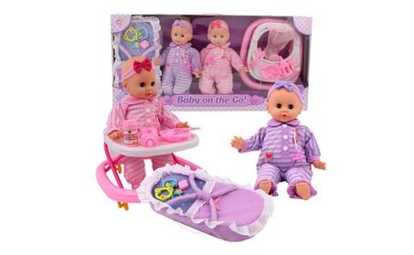 Baby on the Go Twin Baby Doll Set - 17 d156e2b8-4df5-44bd-9e89-1185355ce922