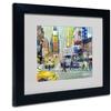 Richard Wallich 'Times Square' Matted Black Framed Art
