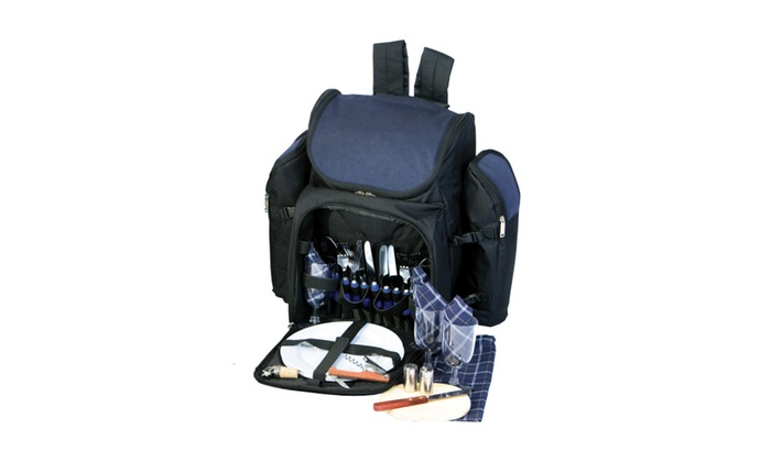 Picnic Plus Outdoor Travel Picnic Backpack – 4 Person