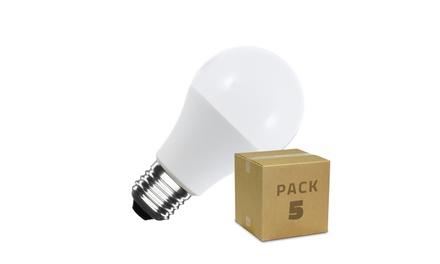Pack de 5 bombillas LED A60, E27, 5W