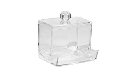 Cotton Swab Q-tip Makeup Storage Organizer Box Transparent ad18b262-641c-41a4-98b5-2413108e7041