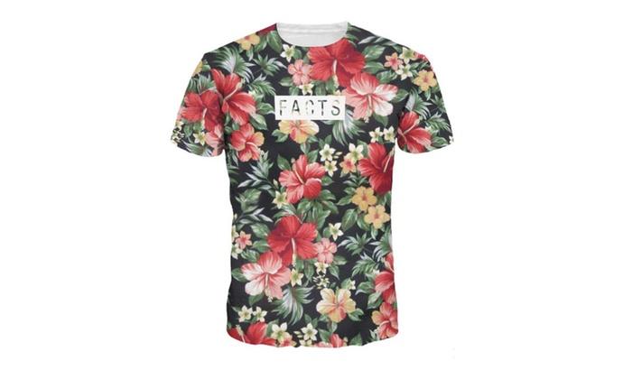 Flowers Digital Print T-shirt ...