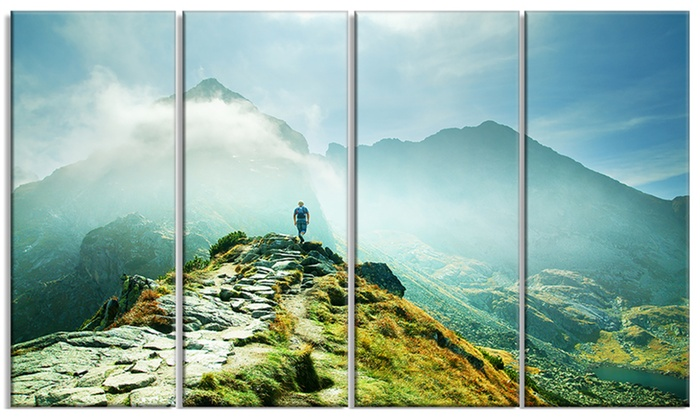 Metal Wall Art Mountain Landscapes : Mountains landscape photography metal wall art