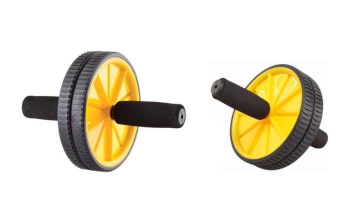 Increase Stability & Foam Grip Handles Dual Wheels Ab Wheel