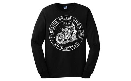I Breathe, Dream, Ride & Love, Motorcycles. Long Sleeve Shirt bee1e3ea-67a7-4ac6-9208-4829dbb7bafa