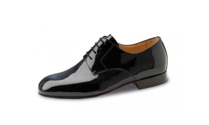 Men's Black Patent X Wide Width Comfort Leather Shoes - Black Patent / 12.5 F(M) UK / 13.5 D(M) US